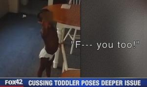 cursing toddler